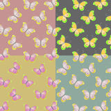 Patronen met vlinders Royalty-vrije Stock Foto's