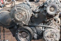 Patronen, oude motordiesel Stock Afbeeldingen