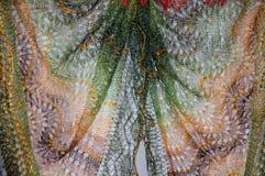 Patronen van de donsachtige sjaal van Orenburg Royalty-vrije Stock Fotografie