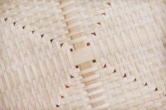Patronen van het weefseltextuur van het aardbamboe met gat voor achtergrond royalty-vrije stock foto