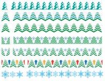 Patronen voor de wintergrenzen, Kerstkaarten Royalty-vrije Stock Afbeeldingen