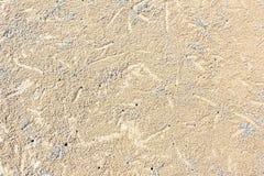 Patronentextuur van zand op het strand royalty-vrije stock foto