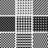 Patrones geométricos inconsútiles en diseño del arte de Op. Sys. Imágenes de archivo libres de regalías
