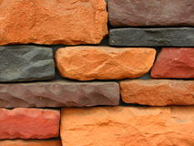 Patroon 12 van de Bakstenen muur van de steen Stock Foto's