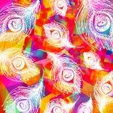 Patroon achtergrondpatroon van de pauwveren Royalty-vrije Stock Fotografie