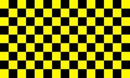 Patroon als achtergrond, gele vierkanten die met zwarte Moderne technologieconcepten en snel en ongecompliceerde het werkpatronen vector illustratie