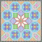 Patroon als mozaïek stock illustratie