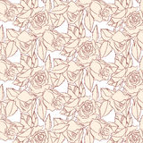 Patroon beige rozen vector illustratie