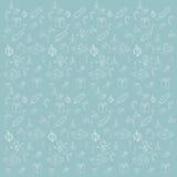 Patroon blauwe eps 10 van schoonheids het naadloze Kerstmis Stock Afbeelding