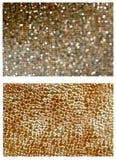 Patroon BOKEH. Gouden weefsel UIT NADRUK Stock Afbeelding