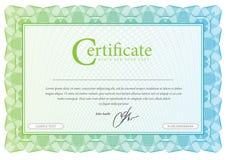 Patroon dat in munt en diploma's wordt gebruikt Vector Illustratie