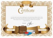 Patroon dat in munt en diploma's wordt gebruikt Stock Illustratie