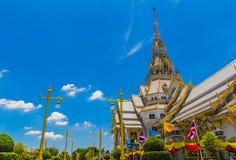 Patroon de Kerk in de tempel van Thailand Royalty-vrije Stock Afbeeldingen