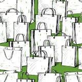 Patroon de pakketten voor aankopen Royalty-vrije Stock Afbeeldingen