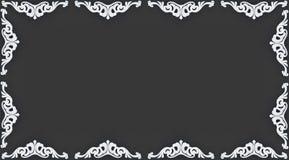 patroon in de vorm van een frame. Stock Foto's