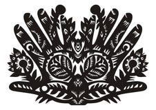 Patroon in de vorm van palmen Royalty-vrije Stock Foto
