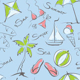 Patroon - de zomer en reis stock illustratie