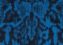 Patroon, de zwarte en het blauw van de stoffentextuur het eindeloze royalty-vrije stock afbeelding