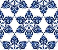 Patroon in donkerblauwe tonen op witte achtergrond Royalty-vrije Stock Foto's