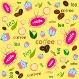 Patroon een gele koffie Stock Foto