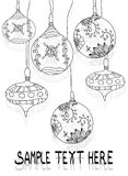 Patroon en tekst, Kerstmisspeelgoed Royalty-vrije Stock Foto's