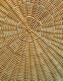 Patroon en Textuur van de Natuurlijke Lichtbruine Bovenkant van de Rotanlijst Stock Foto
