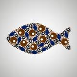 Patroon gekleurde vissen Vector Illustratie