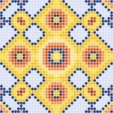 Patroon gele vierkanten Stock Afbeelding