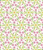 Patroon geometrische bloemenachtergrond Stock Fotografie