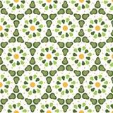 Patroon geometrische bloemenachtergrond Stock Afbeeldingen