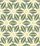 Patroon geometrische bloemenachtergrond Royalty-vrije Stock Afbeeldingen