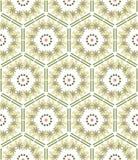 Patroon geometrische bloemenachtergrond Royalty-vrije Stock Afbeelding
