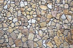 Patroon grijze kleur van de moderne oppervlakte van de de steenmuur van het stijlontwerp decoratieve ongelijke gebarsten echte me Royalty-vrije Stock Afbeelding