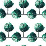 Patroon groene bomen Royalty-vrije Stock Afbeeldingen