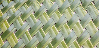 Patroon het weven van kokosnotenbladeren Stock Foto