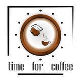 Patroon: koppen koffie en koffietoebehoren, koffiebonen Th Royalty-vrije Stock Afbeelding