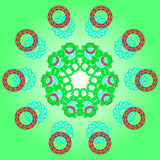 Patroon met abstract ornament vector illustratie