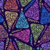 Patroon met abstracte Kerstmisboom Stock Afbeelding