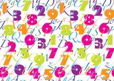 Patroon met alfabet & aantal Royalty-vrije Stock Fotografie