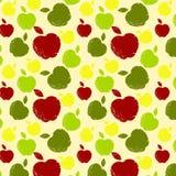 Patroon met appelen Stock Afbeeldingen