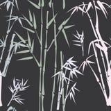 Patroon met bamboe Stock Afbeelding