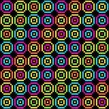 Patroon met 8 bits van Pixel Retro Cirkels EPS8 vector Royalty-vrije Stock Afbeelding