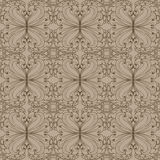 Patroon met bladeren stock illustratie