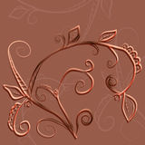 Patroon met bladeren Royalty-vrije Stock Afbeelding