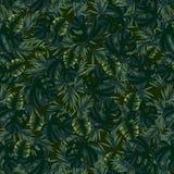 Patroon met bladeren van verschillende vormen royalty-vrije illustratie