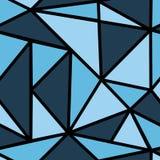 Patroon met blauwe driehoek Stock Afbeelding