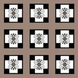Patroon met bloem naadloze textuur Stock Afbeelding