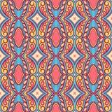 Patroon met bloemblaadjes en wervelingen Royalty-vrije Stock Afbeeldingen