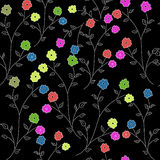 Patroon met bloemen stock illustratie