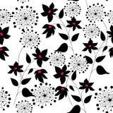 Patroon met bloemen grafische kwaliteit Royalty-vrije Stock Fotografie